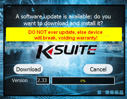 KESS ignore update