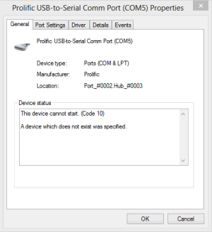 Prolific usb to serial fix official solution to code 10 - Prolific usb to serial comm port driver windows 8 ...