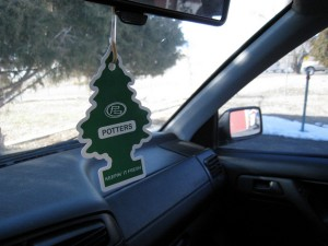 Using an air freshener or odor eliminator can keep your car smelling great.