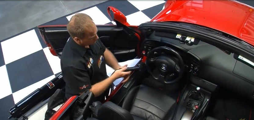 Vacuuming is a main component of interior detailing.