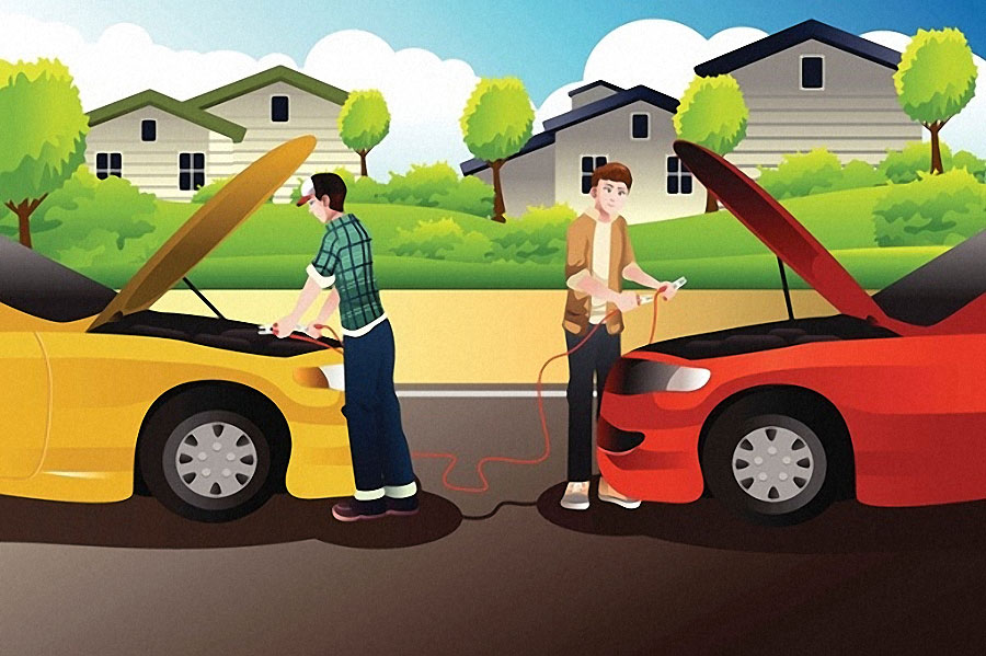 Car Jumper Cables >> How to Jump a Car