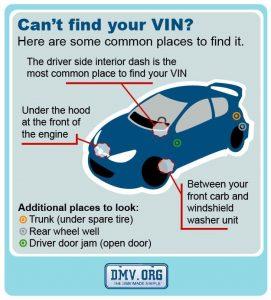find vin number on car