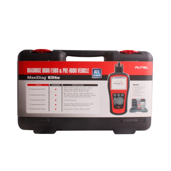 BMW Dealers In Md >> Autel MD802 MaxiDiag Scanner (All OEM Systems): For OBD-II ...