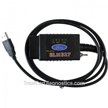 FORD ELM327 USB Auto Diagnostic Scanner: OBD Scan Tool for MSCAN Ford Vehicles
