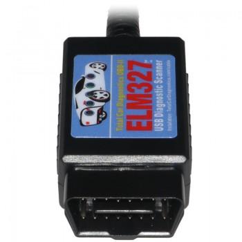 ELM327 USB Auto Diagnostic Scanner: OBD Scan Tool for OBD2, OBDII Cars, Vans, Trucks