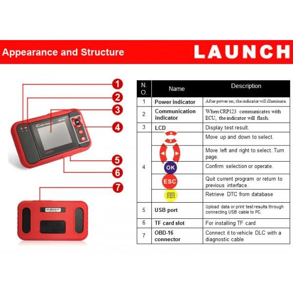 Launch X431 Creader Viii Crp129 Car Diagnostic Scanner