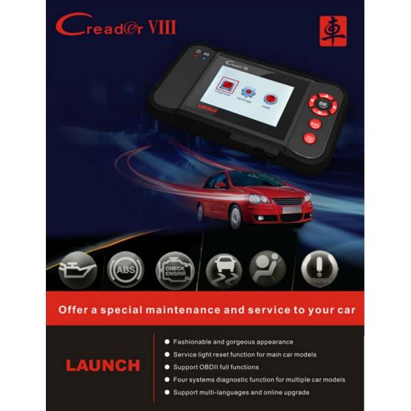 X431 CREADER VIII CRP129 - Car Diagnostic Scanner for 2017