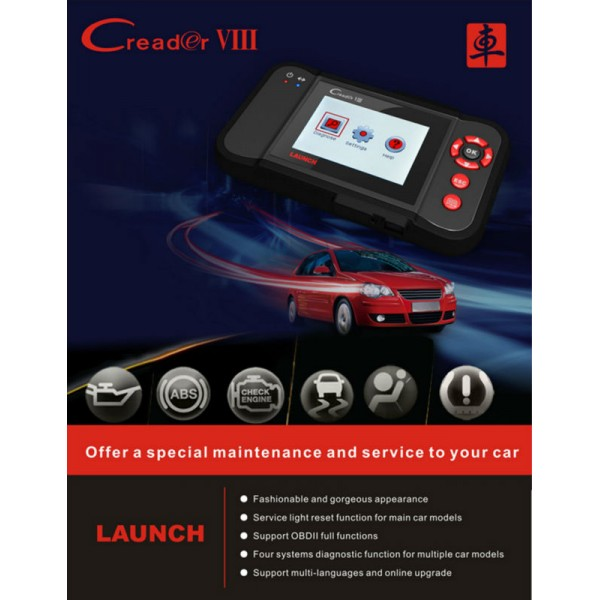 LAUNCH X431 CREADER VIII CRP129 - Car Diagnostic Scanner for 2018