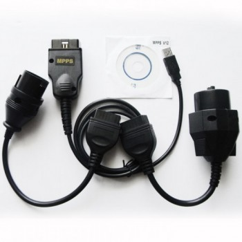 MPPS K+CAN Flasher + OBD USB Cable (Read/Write Map to Car ECU Chip)