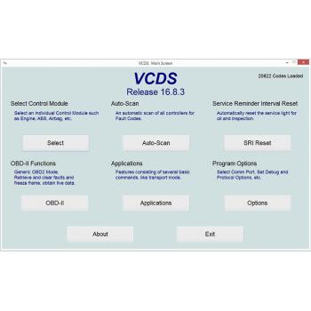 VAGCOM 17.1 USB Cable & VCDS 17.1 Original VAG-COM Software (Audi, Seat, Skoda, Volkswagen Cars)