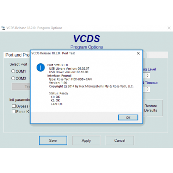 Ross-Tech VCDS Software (VAG-COM Diagnostics for Audi & Volkswagen Cars): V18.9