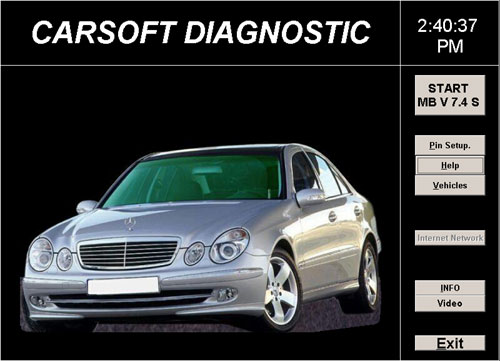 carsoft mercedes 7.4 software